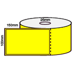 100 X 150mm DT YELLOW 25MM CORES