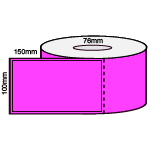 100 x 150mm PINK DT 76MM CORES