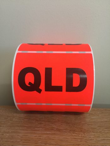QLD – Fluro State Labels