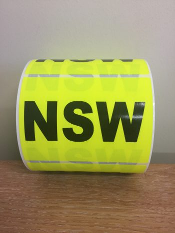 NSW – Fluro State Labels