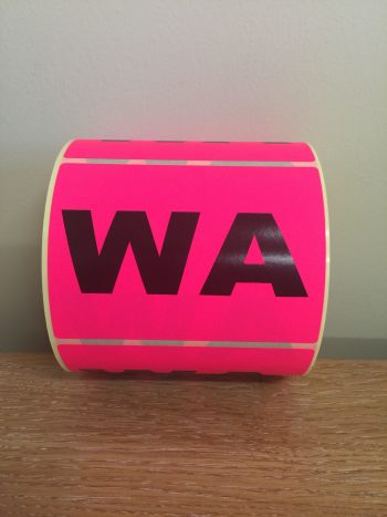 WA – Fluro State Labels