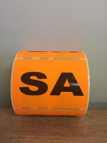 SA – Fluro State Labels